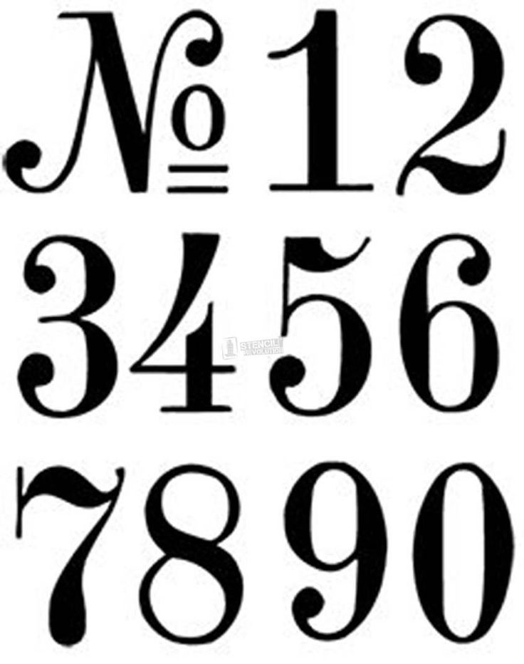 Download Your Free Number Stencil Here Save Time And