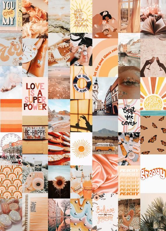 Dreamy Aesthetic Wall Collage Kit Printable Collage Kit