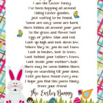 Easter Bunny Letter Image Easter Bunny Template Bunny