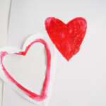 Easy Stencils Kids Can Make For Painting Valentines