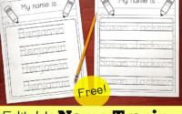 Editable Name Tracing Sheet Name Tracing Worksheets