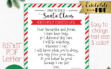 Editable Santa Cam Letter Printable North Pole Express