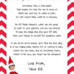 Elf On The Shelf Arrival Letter Template Letternew Co