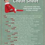 Elf On The Shelf Cheat Sheet Elf On The Shelf Christmas