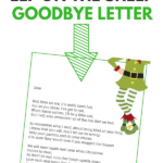 Elf On The Shelf Goodbye Letter The Perfect Elf On The