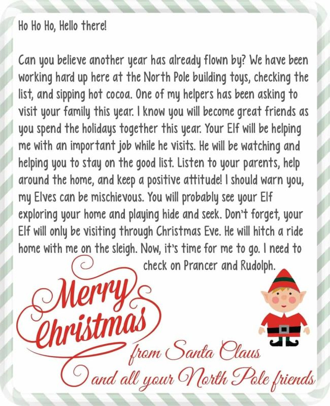 Elf On The Shelf Letter From Santa A Mom s Take