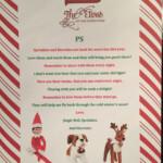 Elf On The Shelf Pet Return Letter For Reindeer St
