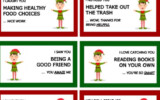 Elf On The Shelf Printable Notecards With A Positive