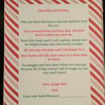 Elf On The Shelf Saint Bernard Welcome Letter Elf Pets