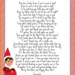 Elf Welcome Letter Template Kerren