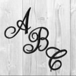 Embroidered Iron On Script Letters White Black Or Red Sold