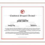 Emotional Support Animal ID Service Dog Certifications