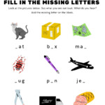 Fill In Missing Letters Interactive Worksheet