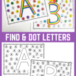 Find And Dot Matching Letters Preschool Writing