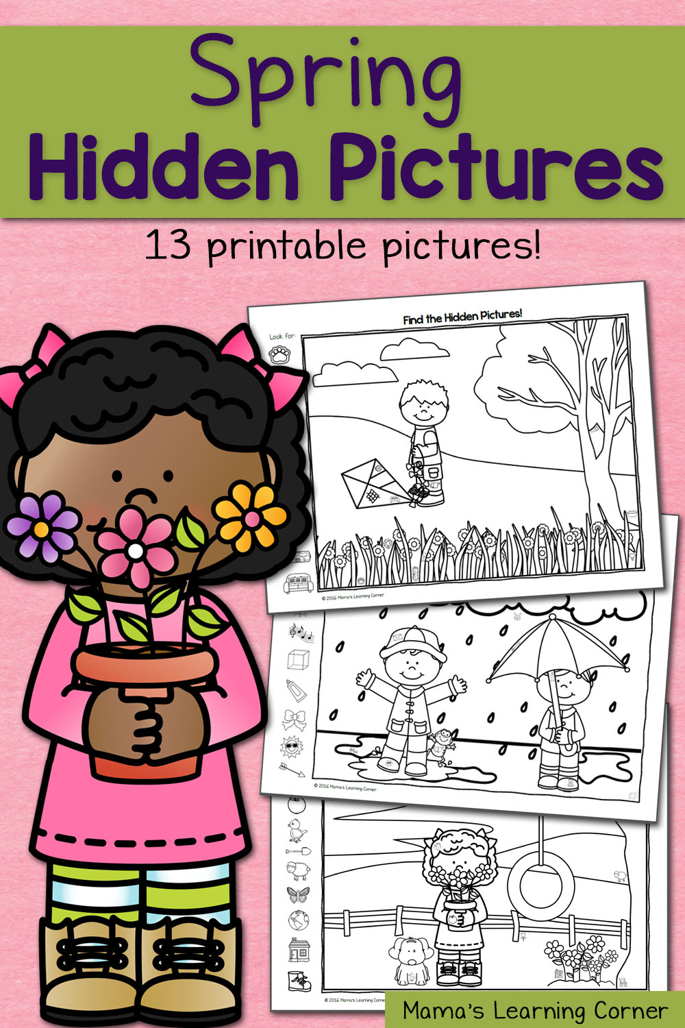 Find It Spring Hidden Picture Worksheets Mamas Learning