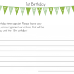First Birthday Time Capsule With Free Printable