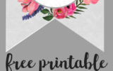 Floral Alphabet Banner Letters Free Printable Free
