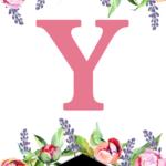 Floral Free Printable Alphabet Letters Banner Paper