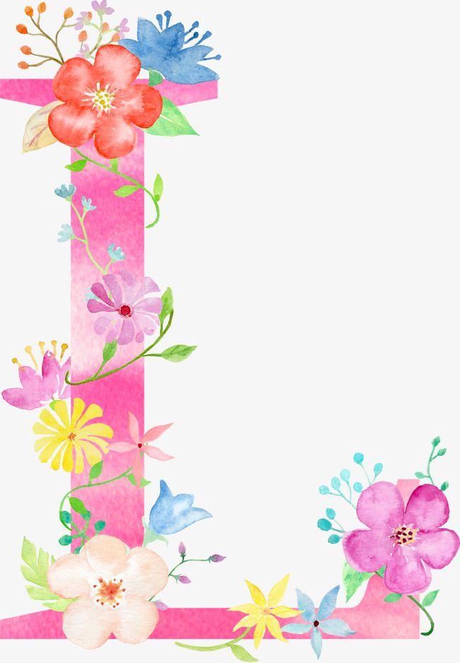 Flowers Letter L Letter Flower L PNG Transparent