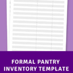 Formal Pantry Inventory Template Printable PDF