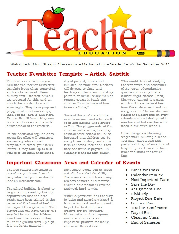 FREE 16 Fantastic Printable Newsletter Templates In PDF