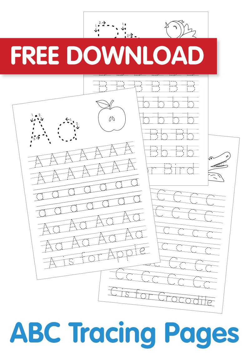 Free ABC Colouring In Printable Abc Tracing Abc