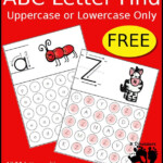 Free ABC Letter Find Uppercase Or Lowercase Printable 52