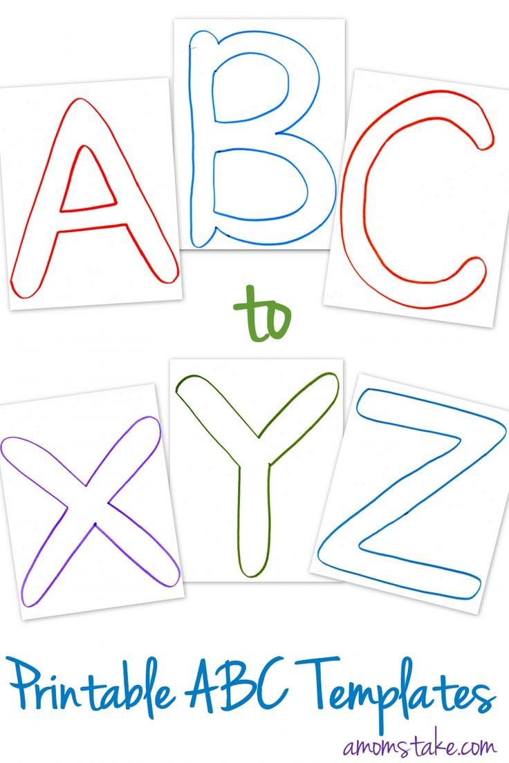 Free ABC Printable Templates A Mom s Take Printable