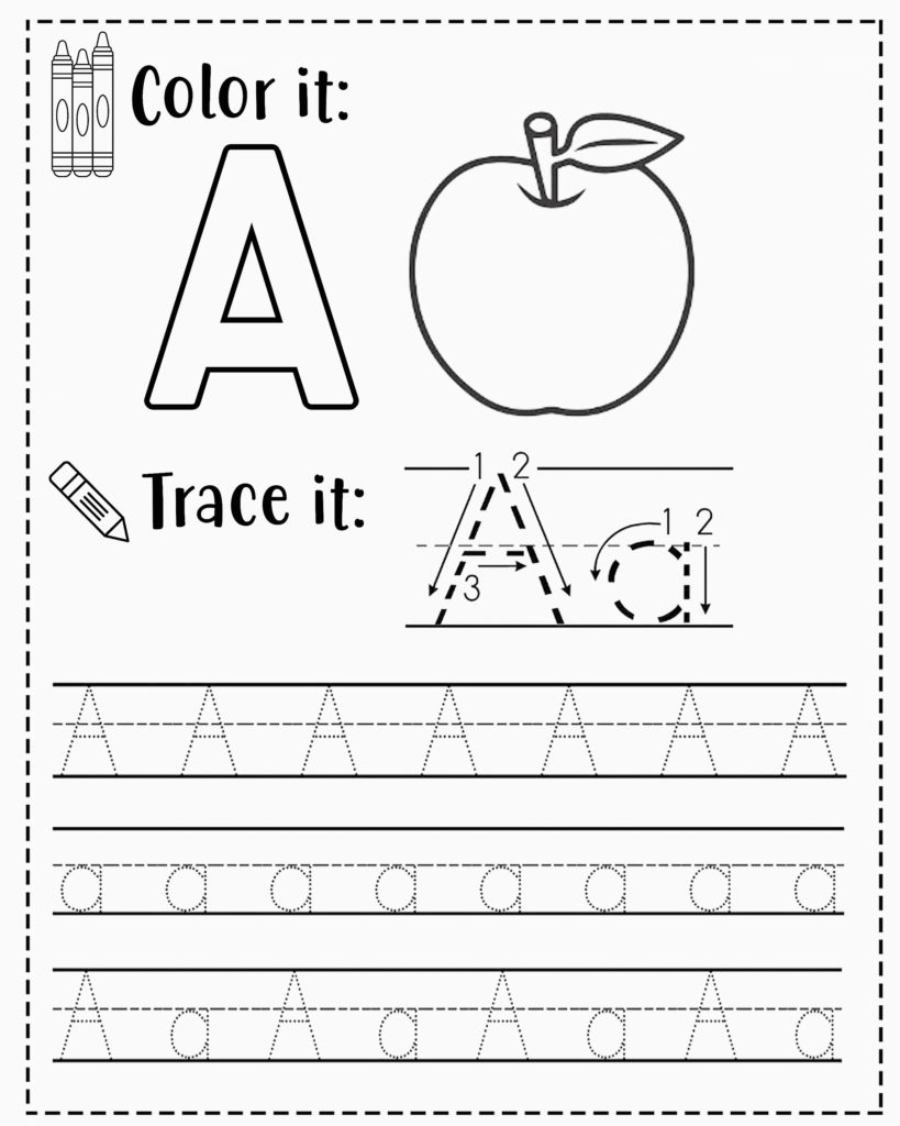 FREE Alphabet Tracing Worksheets For Preschoolers