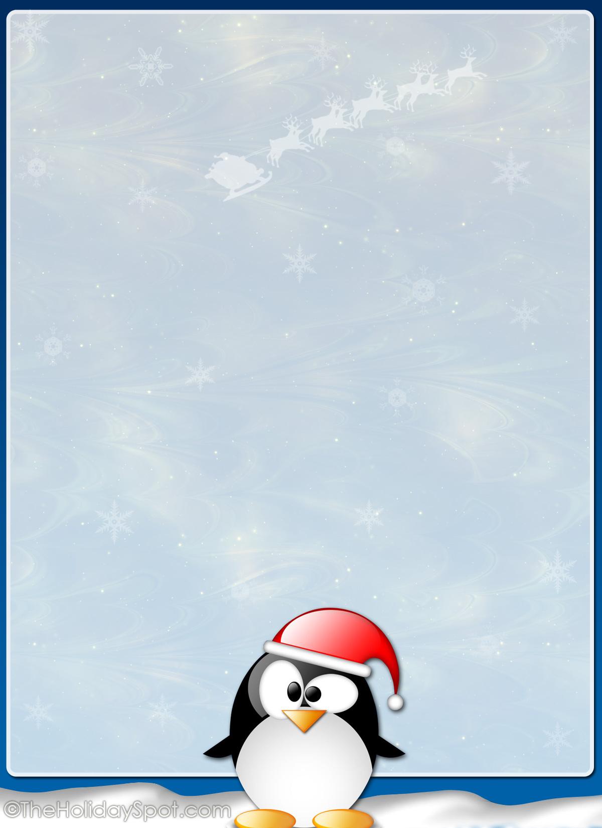 Free Christmas Letterhead Free Stationery For Christmas