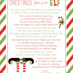 Free Elf On The Shelf Welcome Letter Printable And Ideas