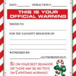 FREE ELF WARNING LETTER