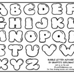 Free Fancy Bubble Letters A Z To Draw Free Large