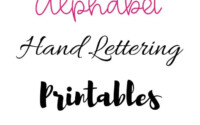 FREE Hand Lettering Alphabet Practice Printables Free