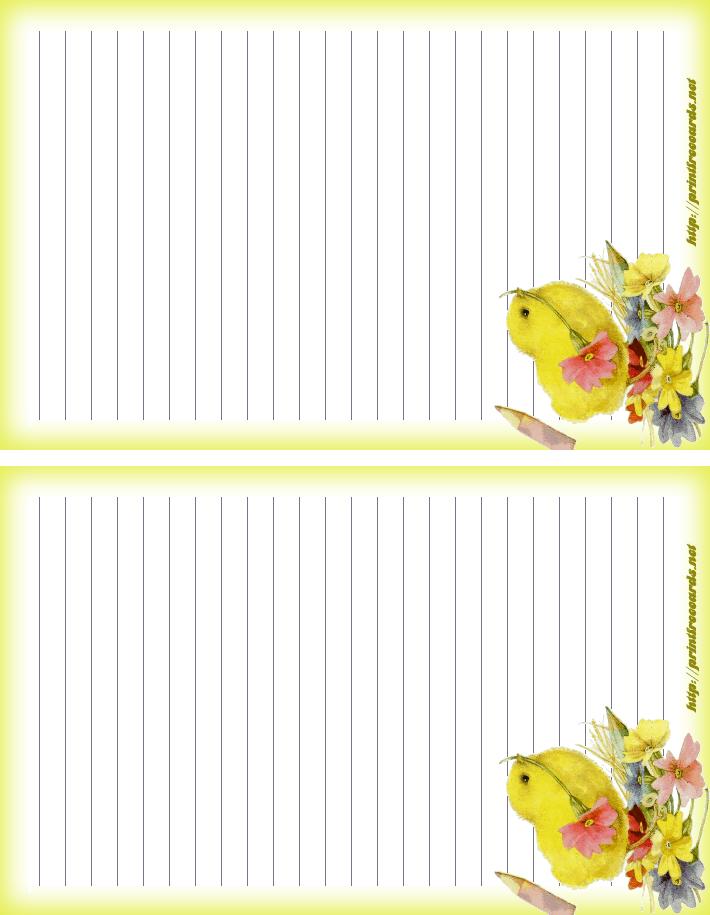 Free Happy Easter Stationary Letterhead Free Printable