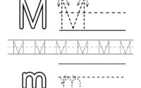 Free Letter M Alphabet Learning Worksheet For Preschool