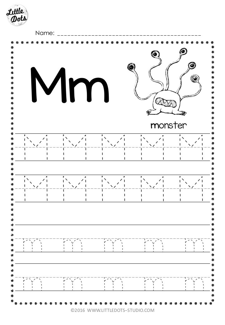Free Letter M Tracing Worksheets
