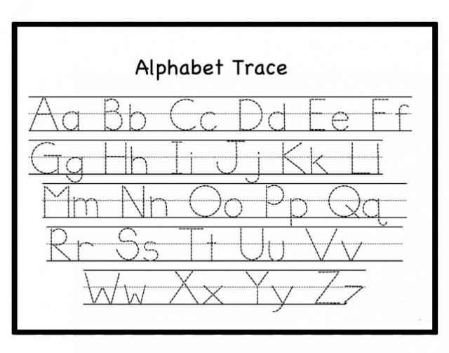 Free Letter Tracing Worksheets PDf Printable For Toddlers