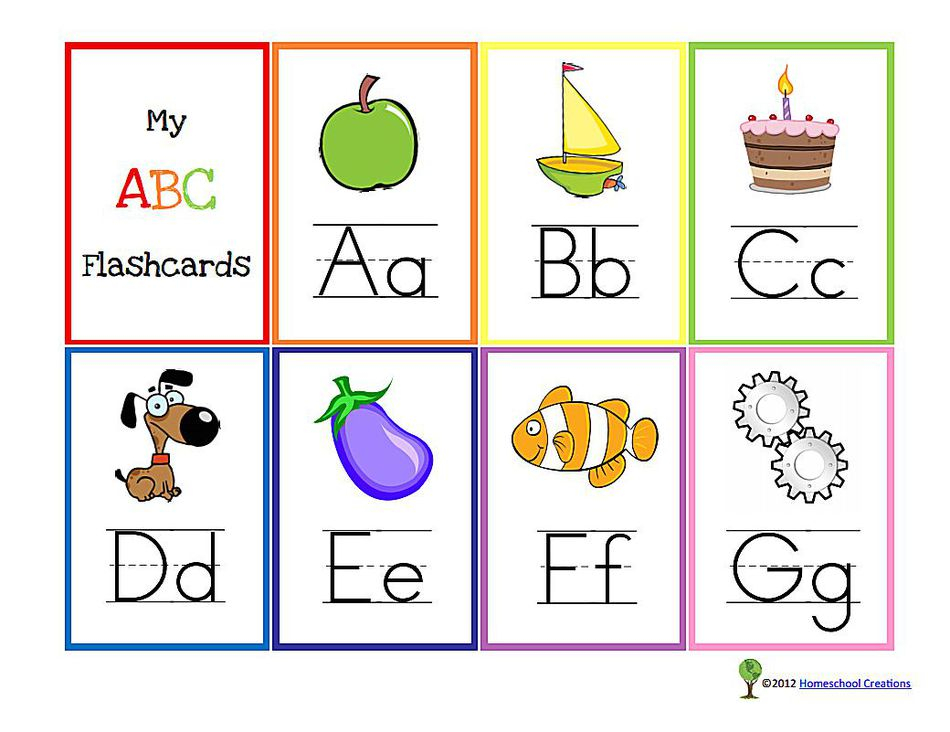 Free Printable Alphabet Flashcards