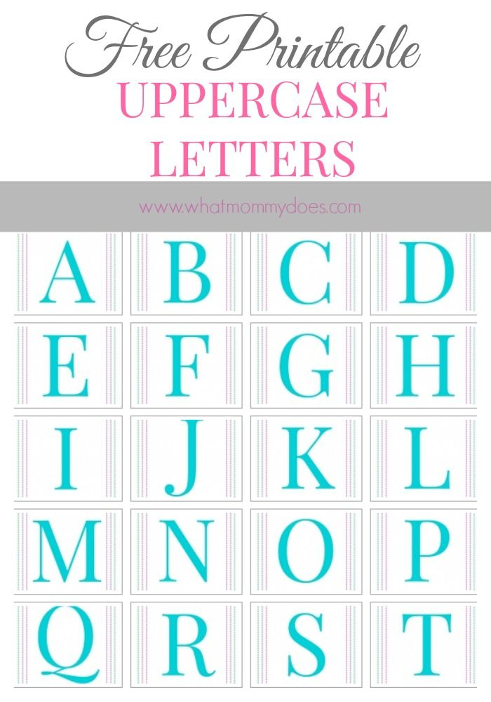 Free Printable Alphabet Letters A To Z LARGE Upper Case
