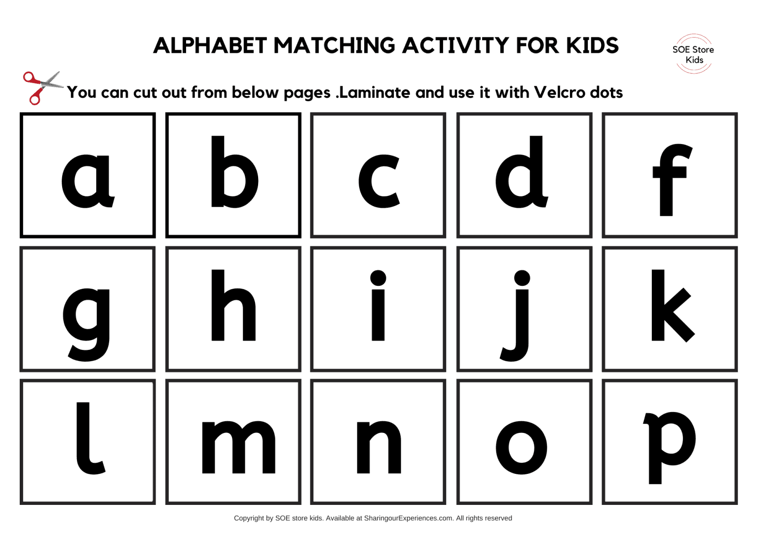 Free Printable Alphabet Matching Worksheets For Toddlers