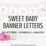 Free Printable Baby Shower Decorations Banner Letters