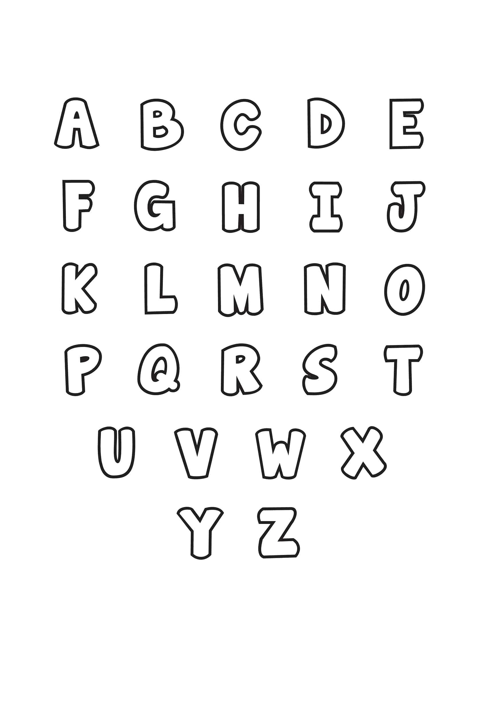 Free Printable Bubble Letter Alphabet Stencils Freebie