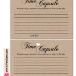 Free Printable Cards For Baby Time Capsule Baby Time