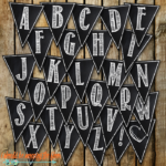 Free Printable Chalkboard Banner Letters A Z Free