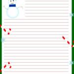 Free Printable Christmas Stationary Christmas Writing
