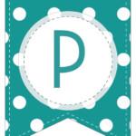 Free Printable Colorful Polka Dot Happy Birthday Banner