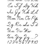 Free Printable Cursive Alphabet Letters Cursive Letters