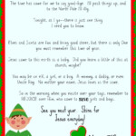 Free Printable Elf On The Shelf Goodbye Letter With