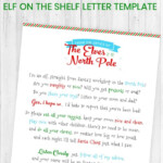 Free Printable Elf On The Shelf Letter Template